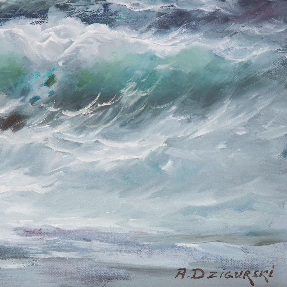 Alexander Dzigurski. Coastal Seascape, oil - 2
