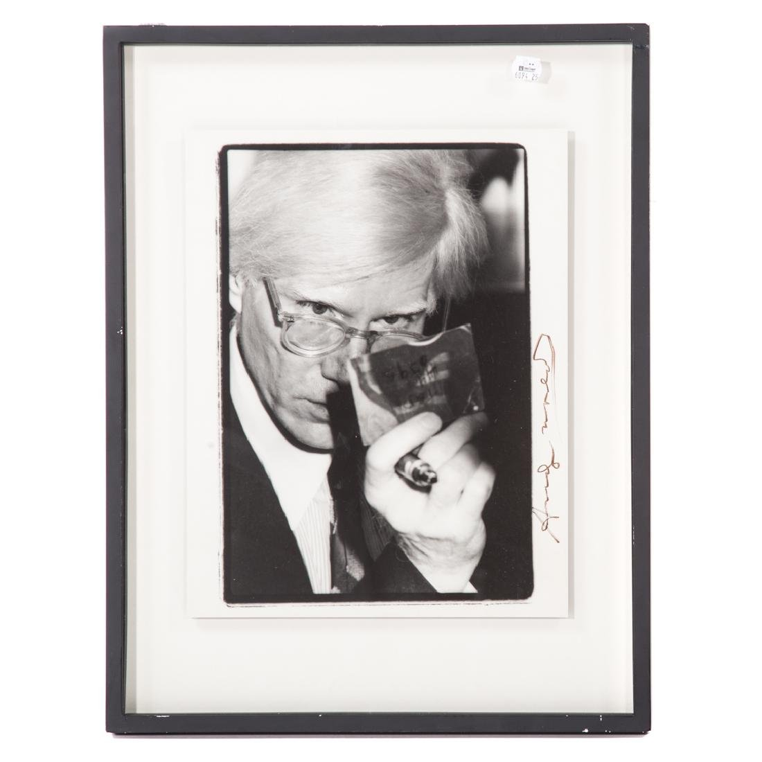 "Lesley Mowat. ""Andy Warhol,"" photograph"