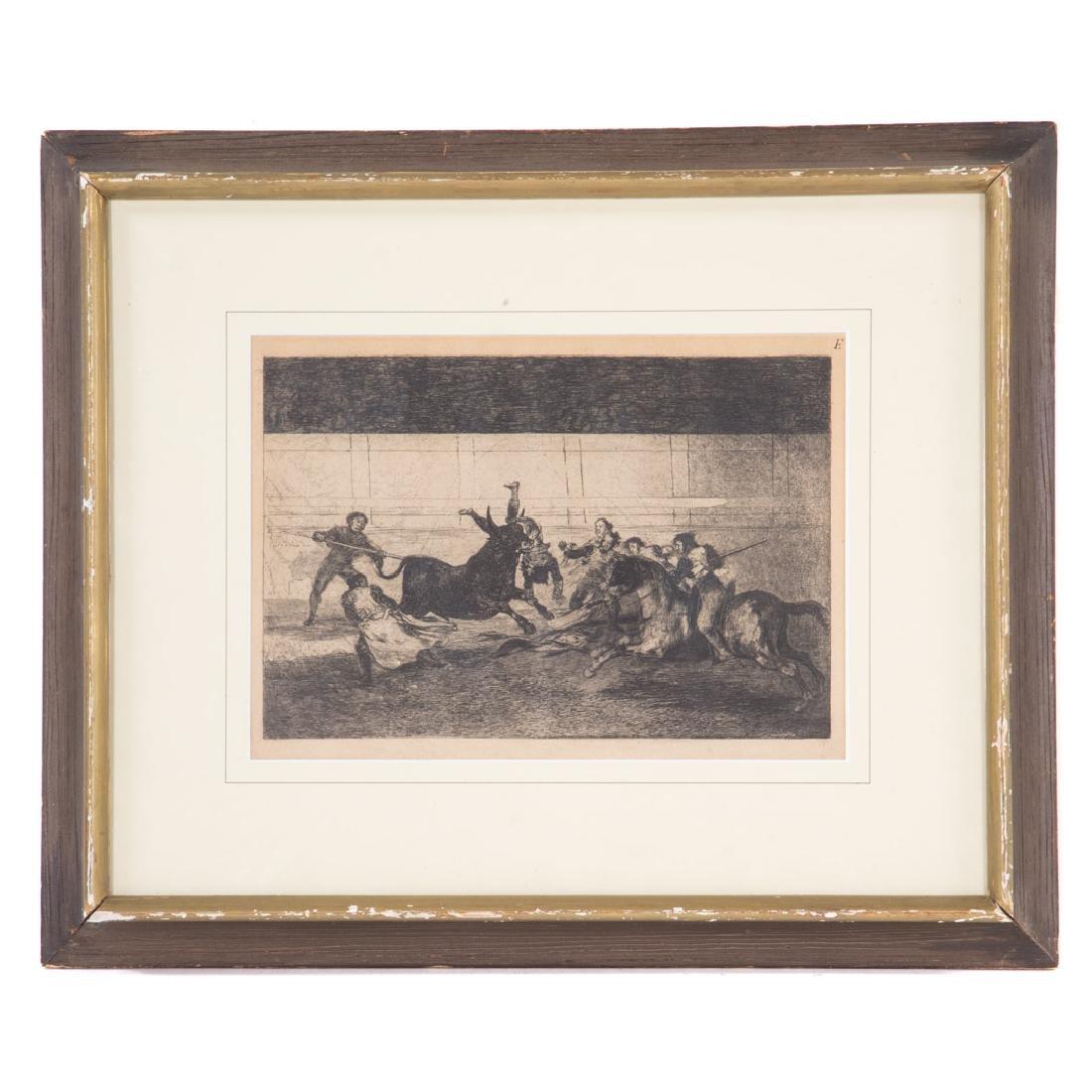 "Goya. ""Mort de Pepe Illo"", 2e composition, etching"
