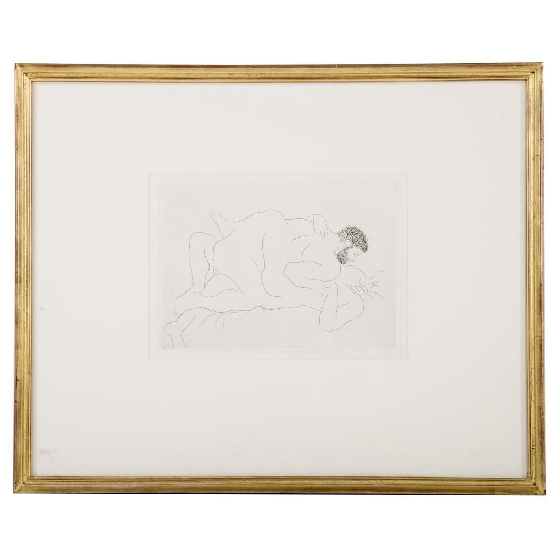 "Pablo Picasso. ""Homme et Femme,"" etching"