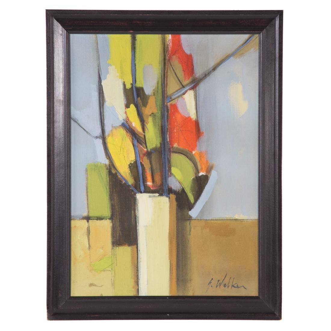 Glenn Walker. Floral Still Life, oil on canvas