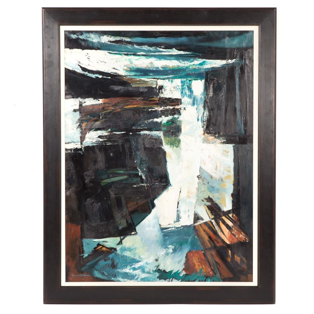 Bennard Perlman. Untitled, oil on board