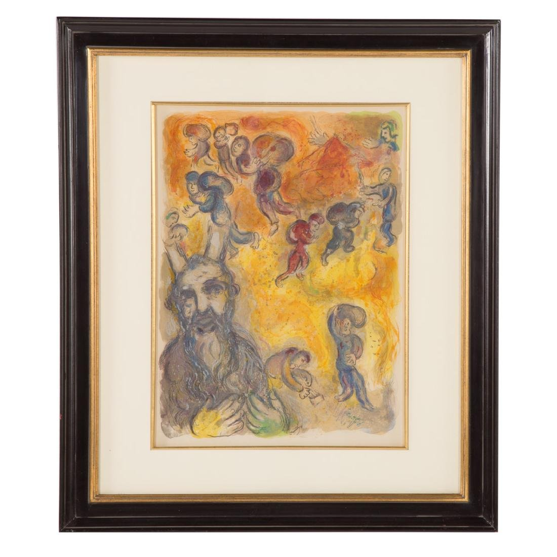 "Marc Chagall. ""Moses Sees the Suffering...,"" litho"