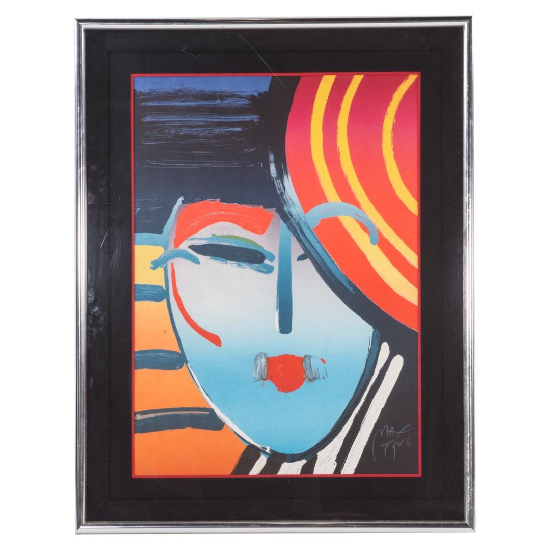 Peter Max. Deco Lady, lithograph