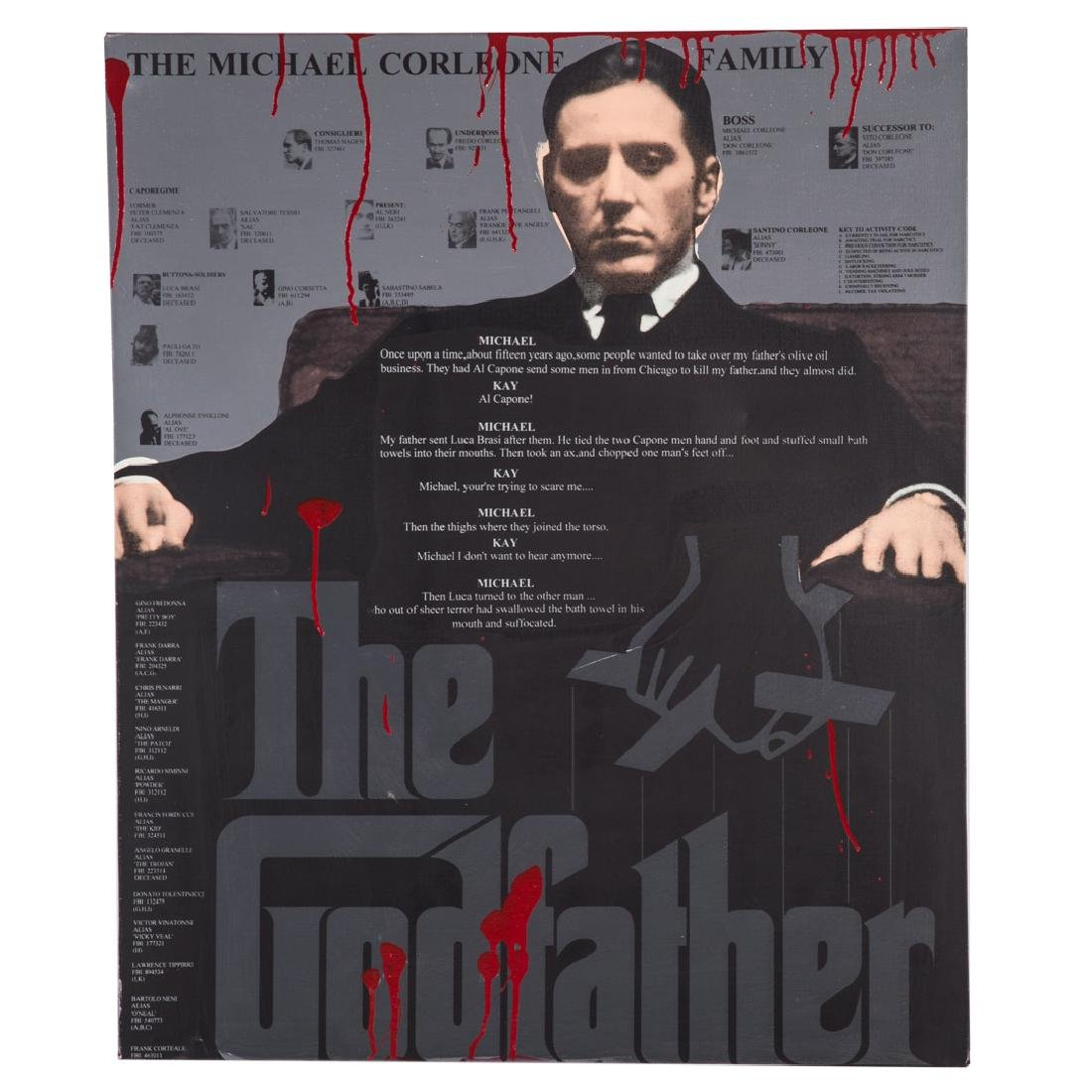 "Steve Kaufman. ""The Godfather,"" serigraph"
