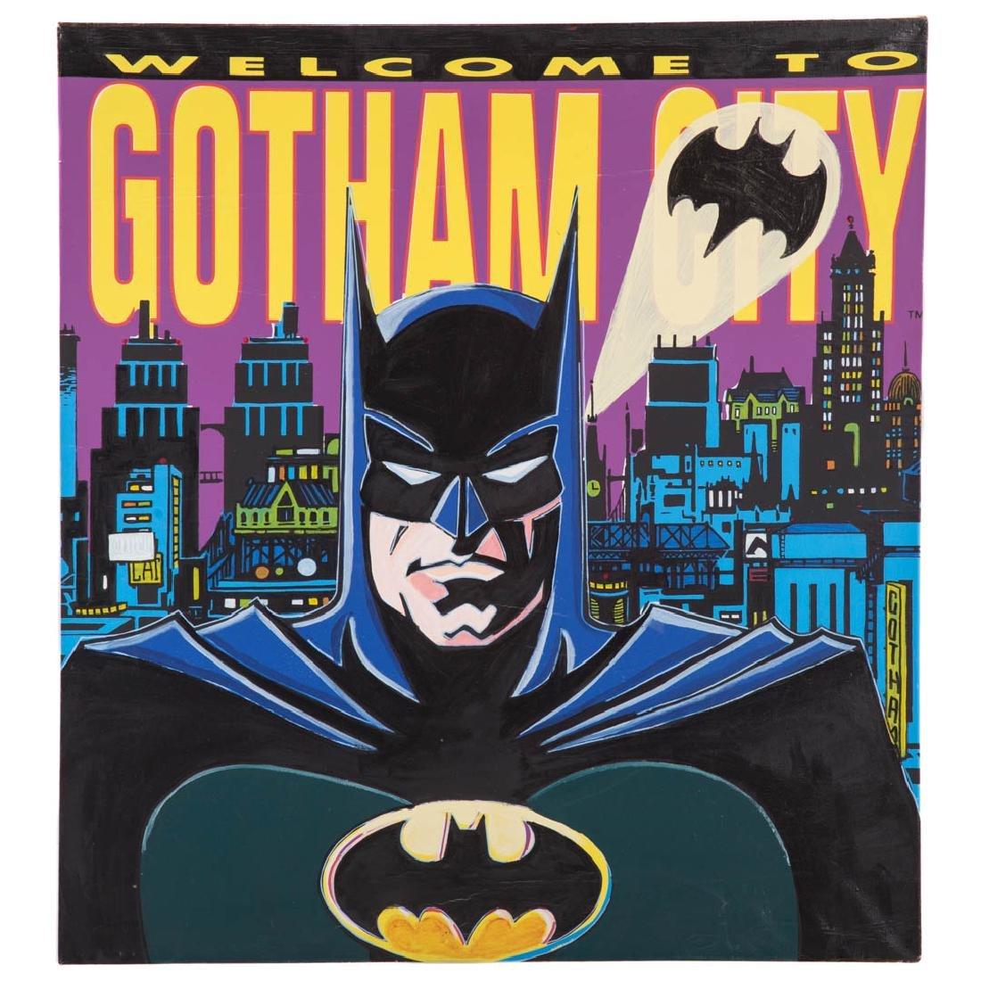 "Steve Kaufman. ""Batman,"" serigraph on canvas"
