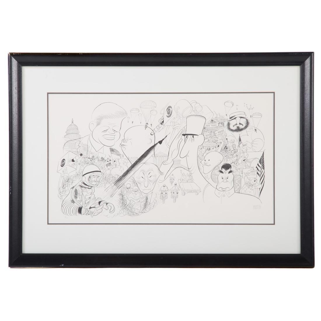 "Al Hirschfeld. ""The Kennedy Years,"" lithograph"