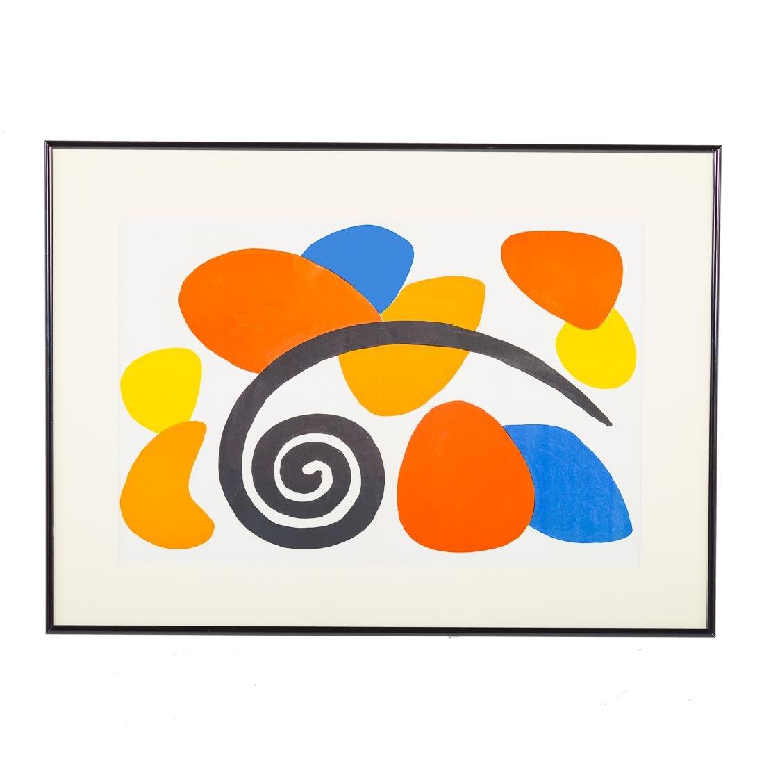 """Alexander Calder. """"Derriere le Miroir #173"""" litho"""