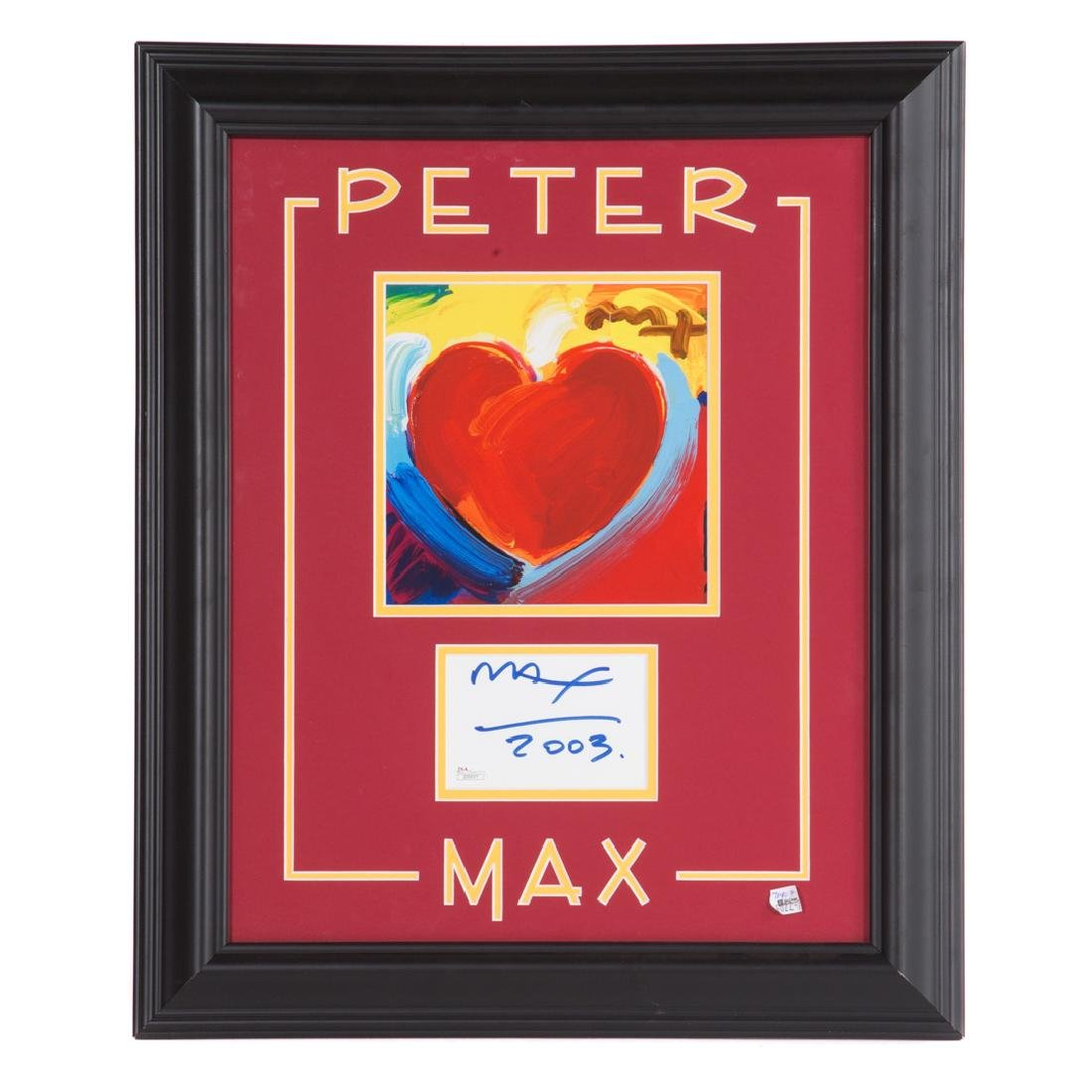 Peter Max. Heart, photolithograph