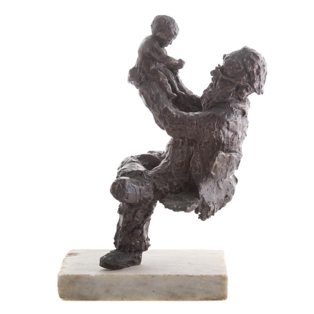 """Irwin Hyman. """"Zayde"""", bronze"""