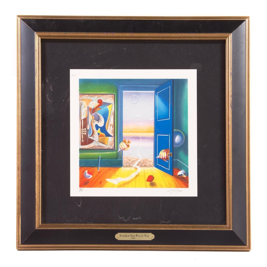 """Ferjo. """"Blue Door"""", lithograph"""