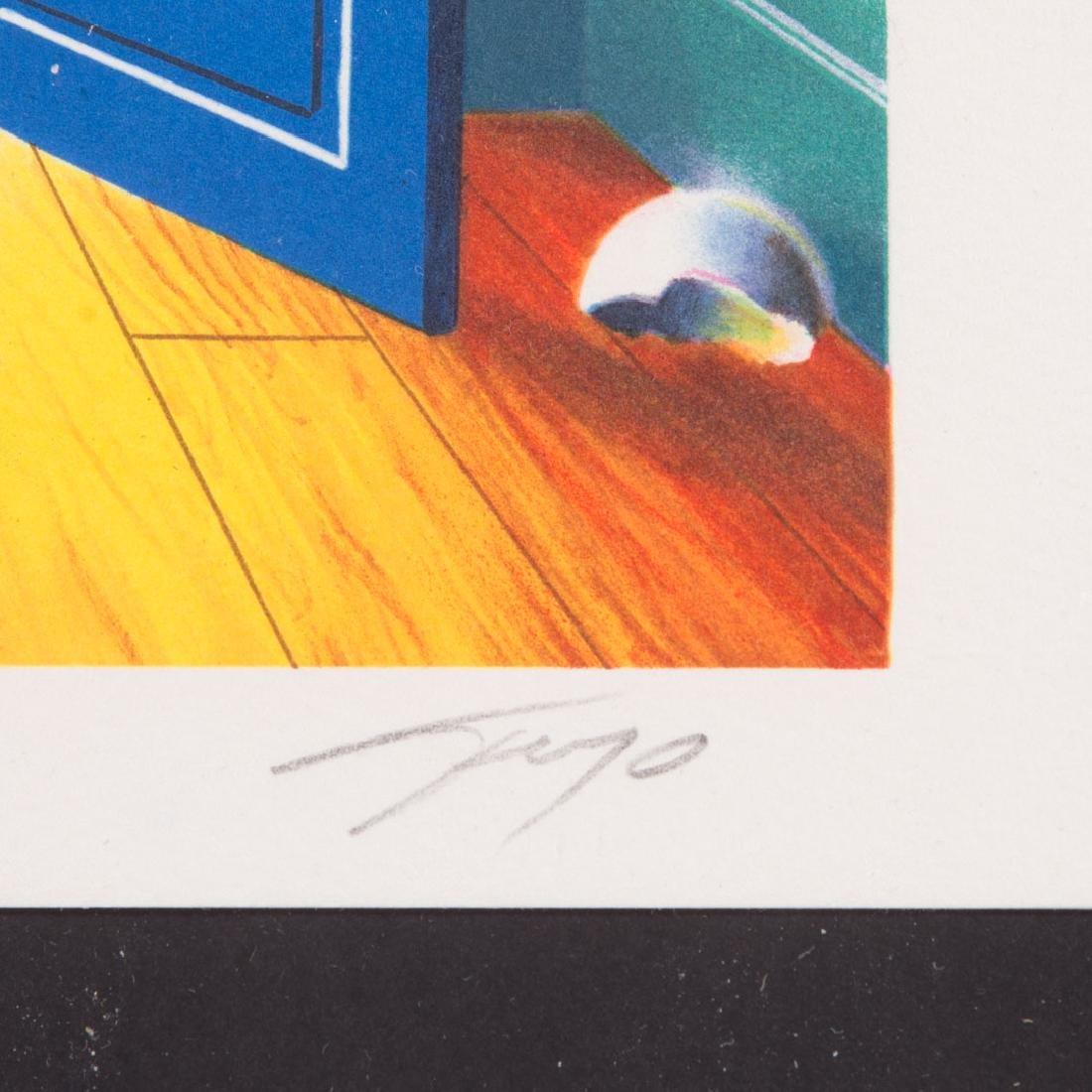 """Ferjo. """"Blue Door"""", lithograph - 3"""