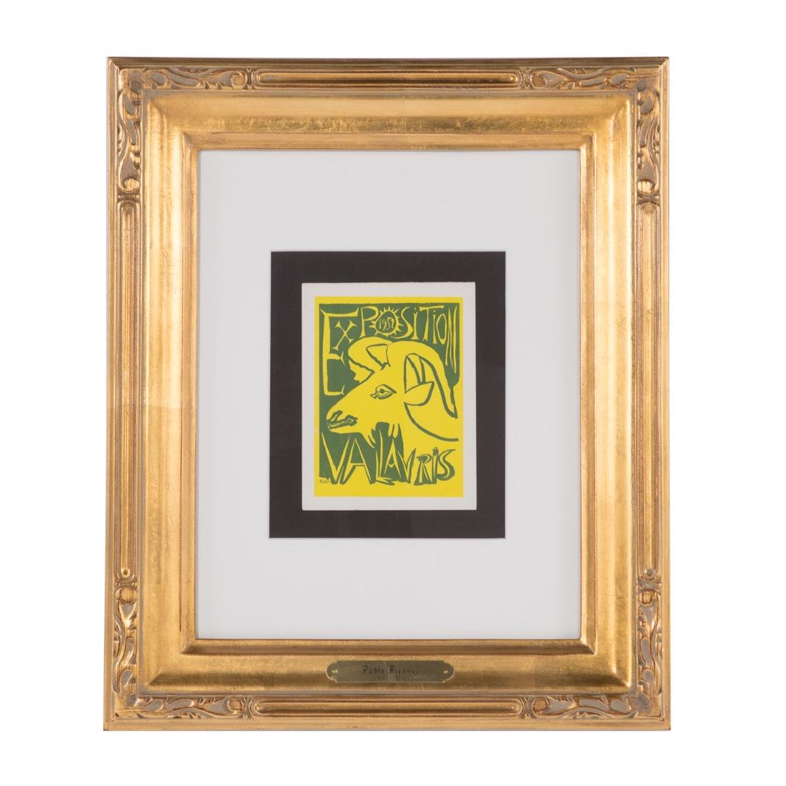 "Pablo Picasso. ""Exposition Vallauris 52,"" linocut"