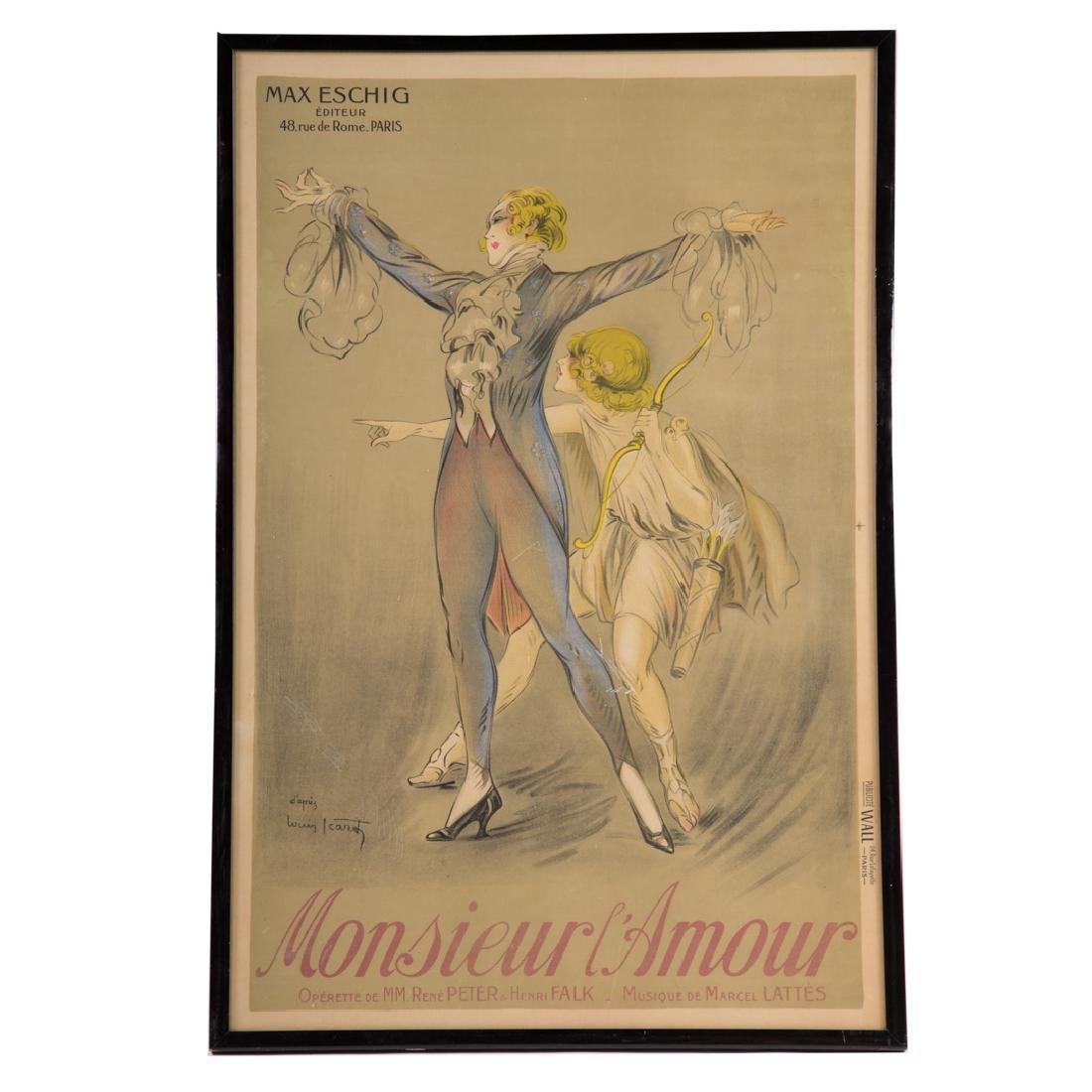 """After Louis Icart. """"Monsieur L'Amour,"""" lithograph"""