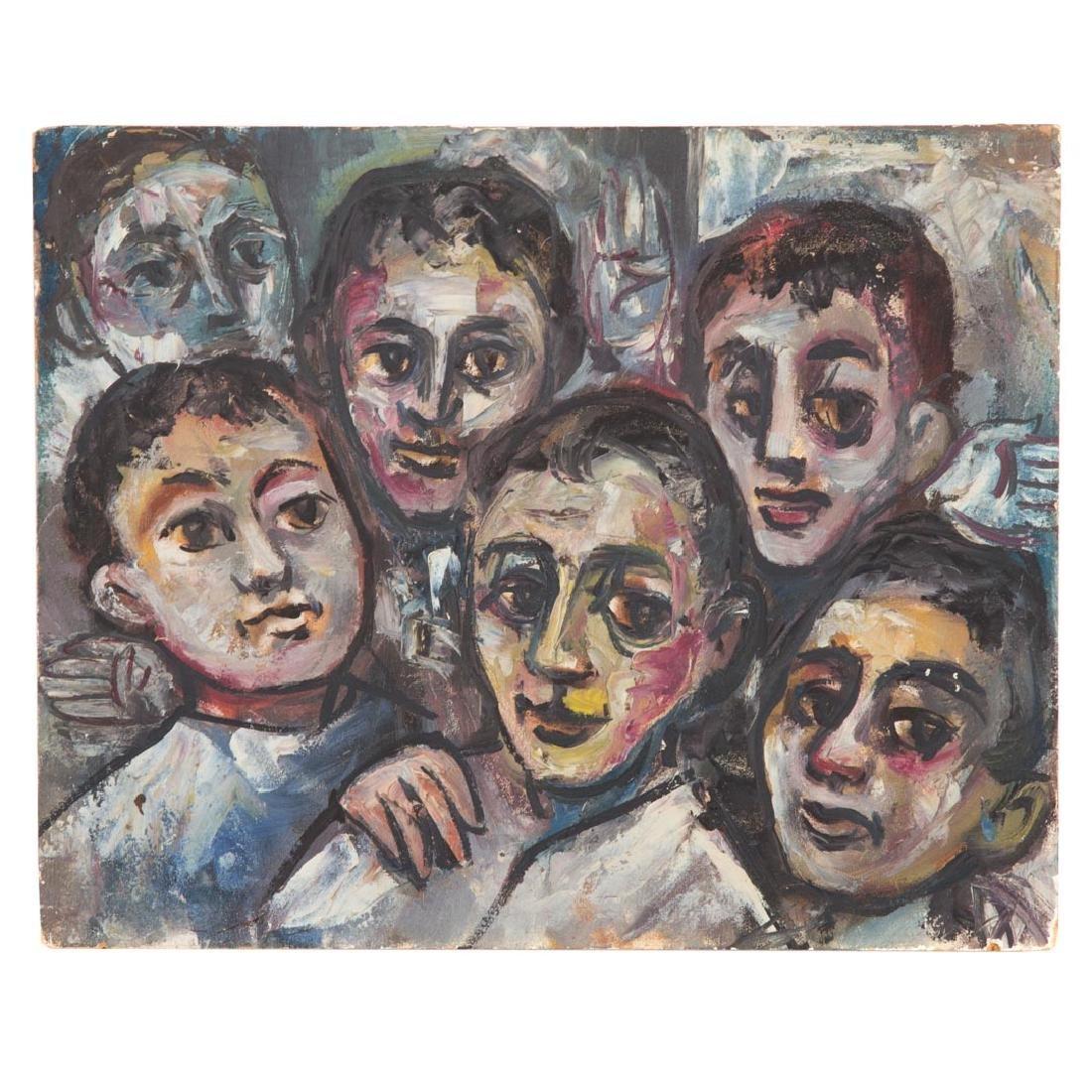 """Alvin Cohen. """"Choir Boys,"""" oil"""