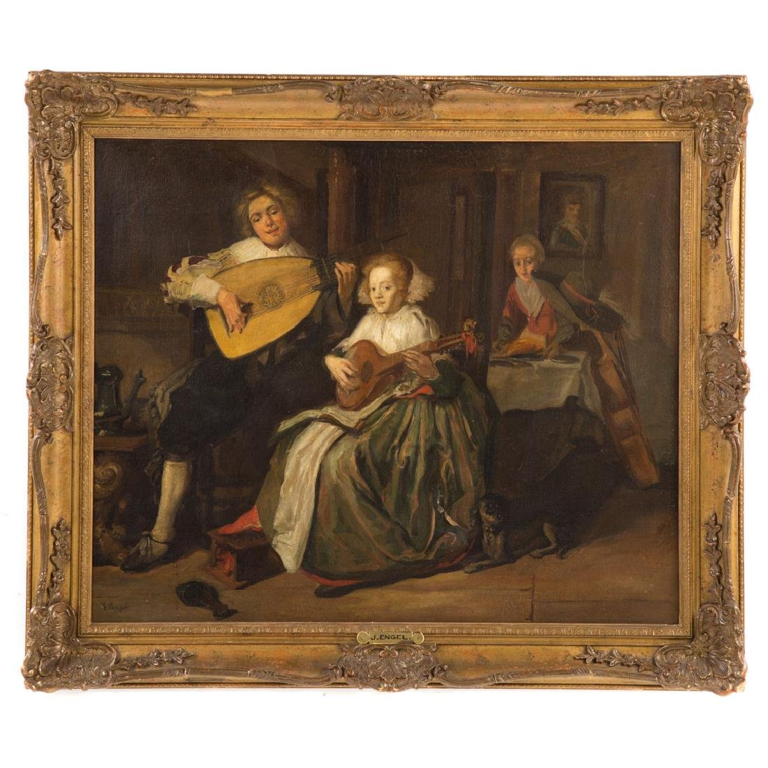 J. Engel. The Concert, oil on canvas