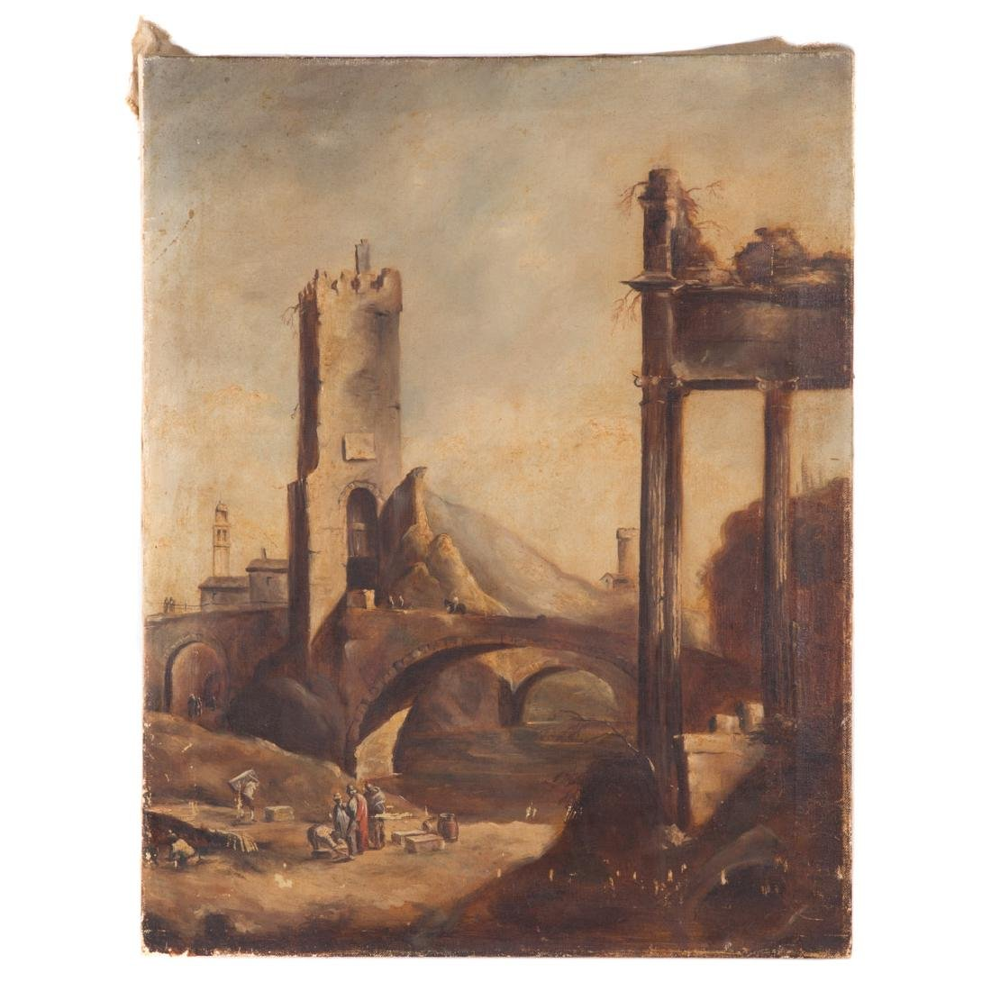 Melvin Miller. Classical Scene, oil on canvas