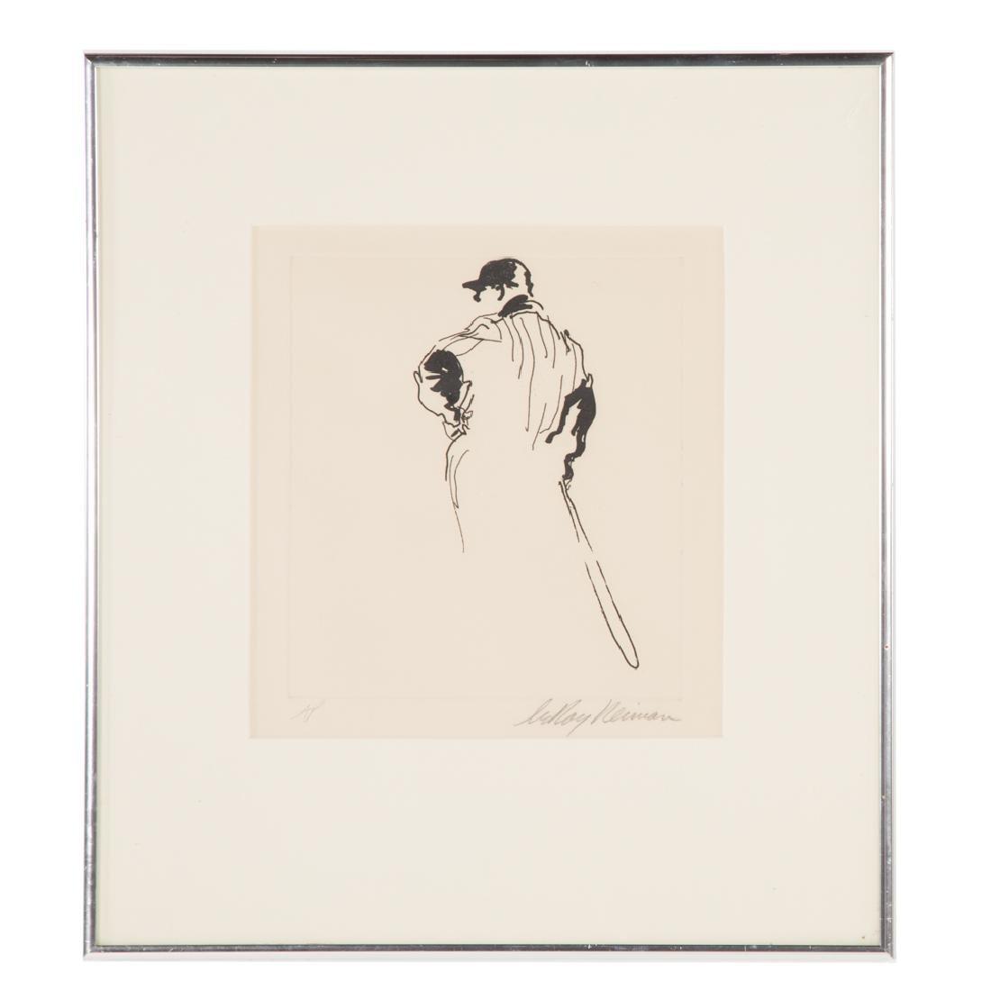 "LeRoy Neiman. ""Next at Bat,"" photo etching"