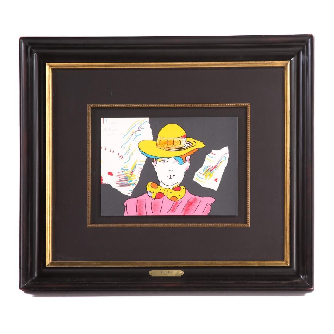"Peter Max. ""Clown"", color lithograph"