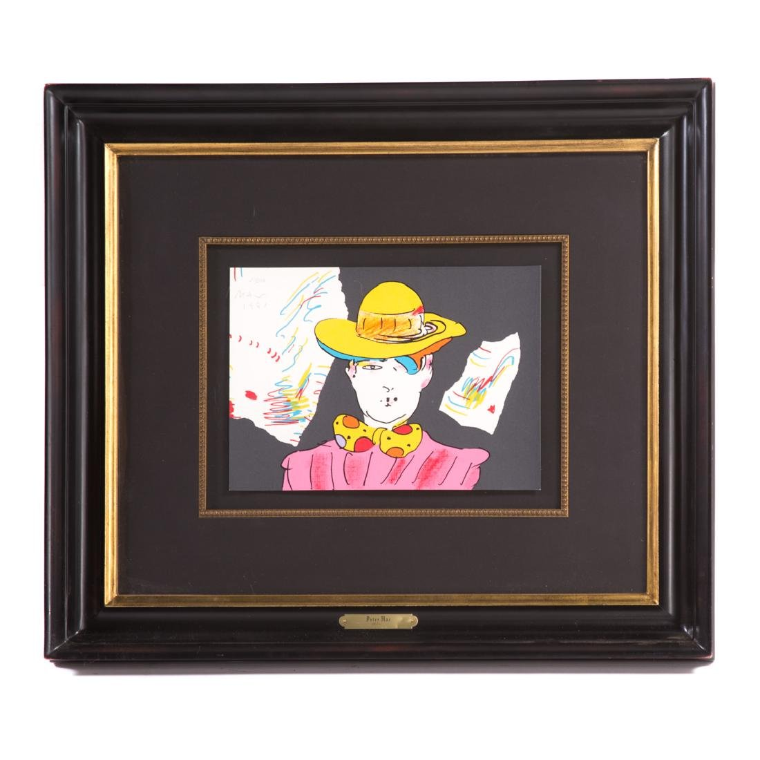"Peter Max. ""Clown"", color lithograph"