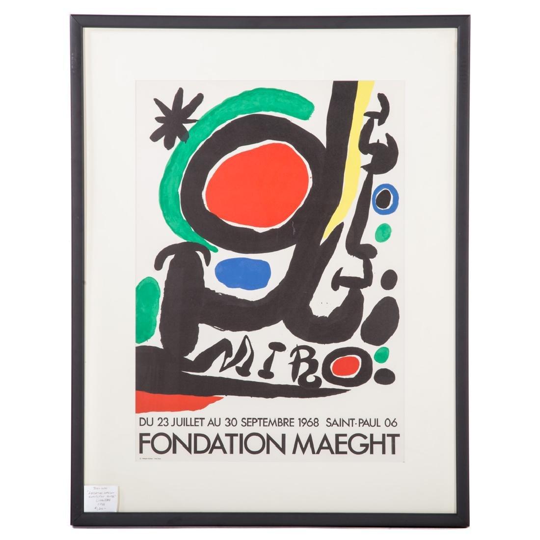 "Joan Miro. ""Fondation Maeght,"" lithograph"