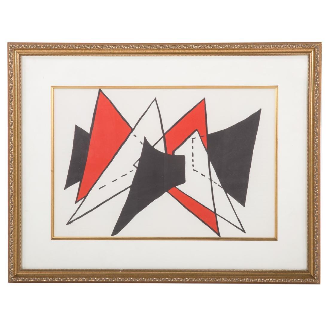 "Alexander Calder. ""Stabiles,"" lithograph"