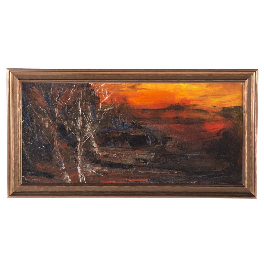 Gladys Hack Goldstein. Sunset, oil on canvas