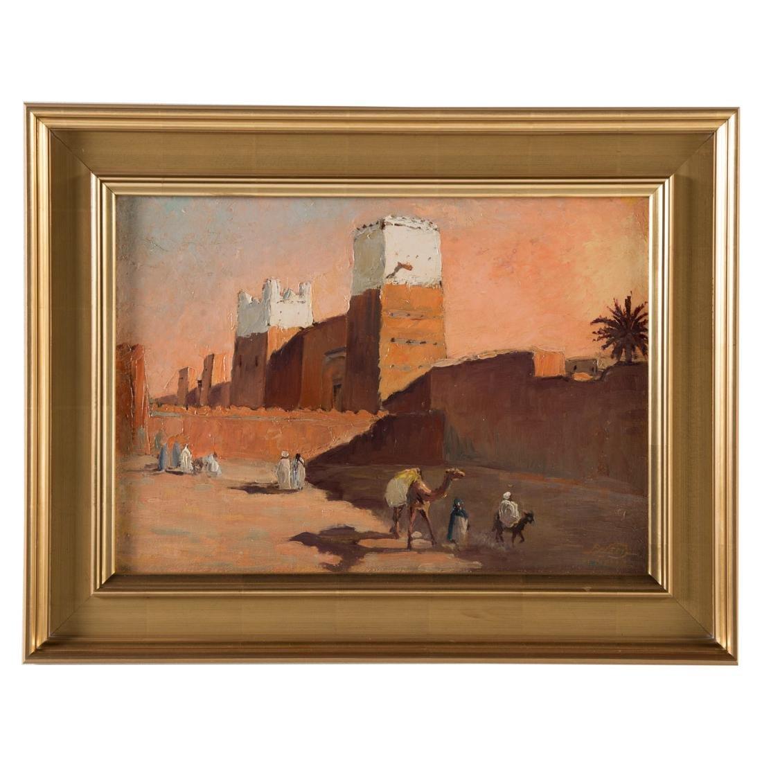 Paul Neri. Orientalist Scene, oil on board