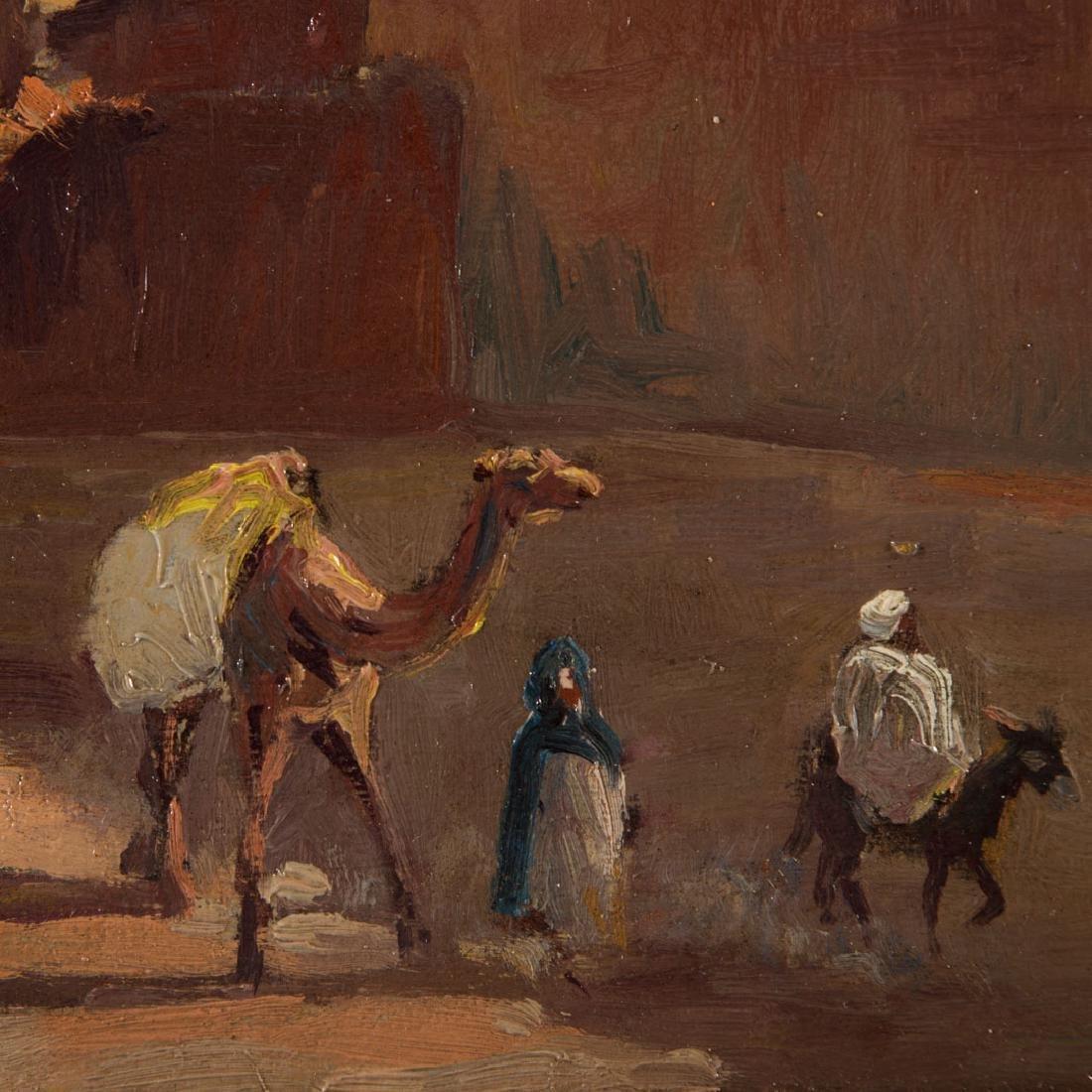 Paul Neri. Orientalist Scene, oil on board - 2