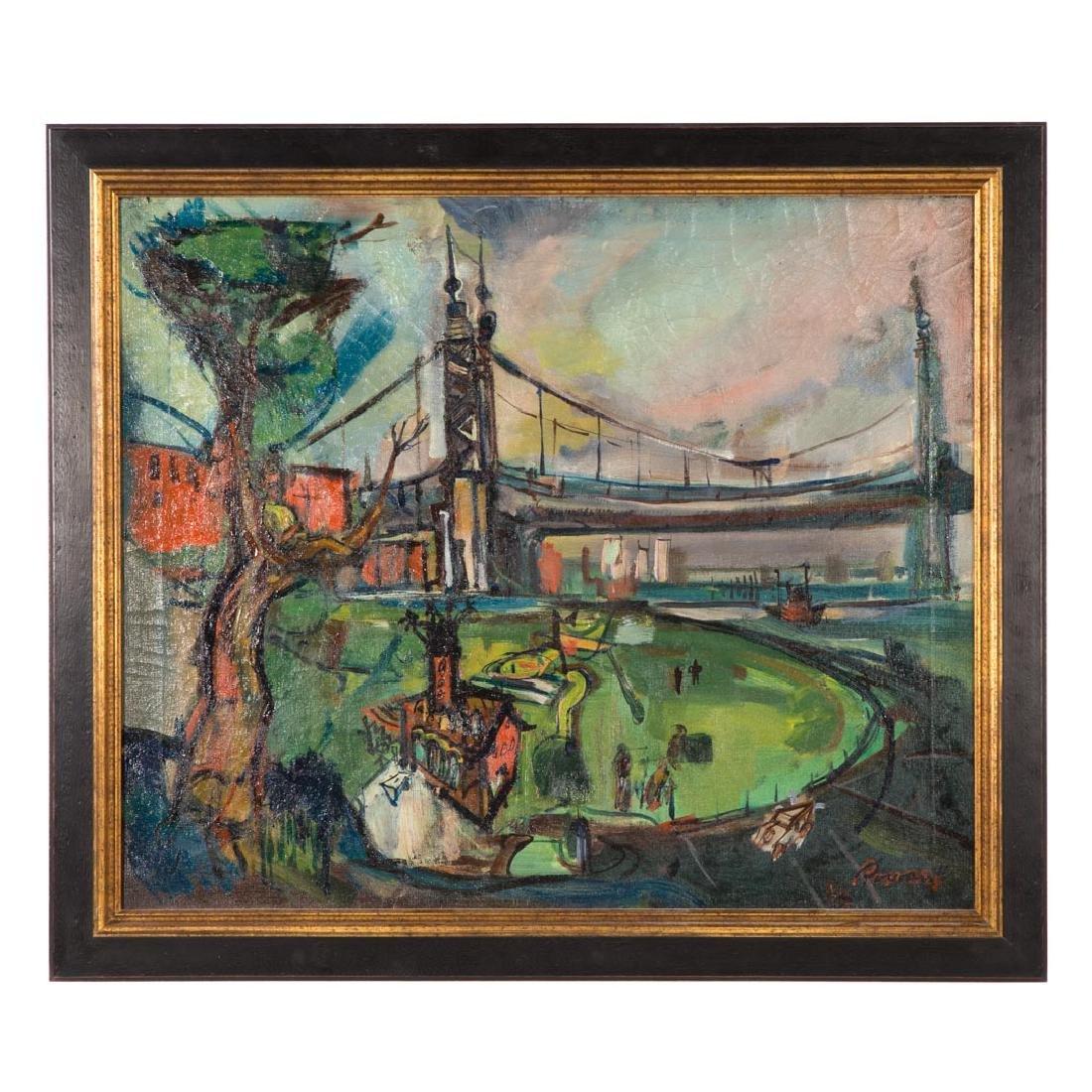 Rowan. Roosevelt Island, East River, oil on canvas