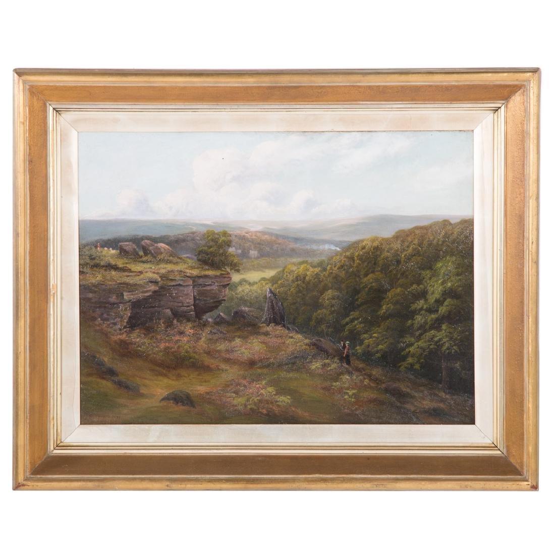 J. Holdforth. Landscape with Figures, oil