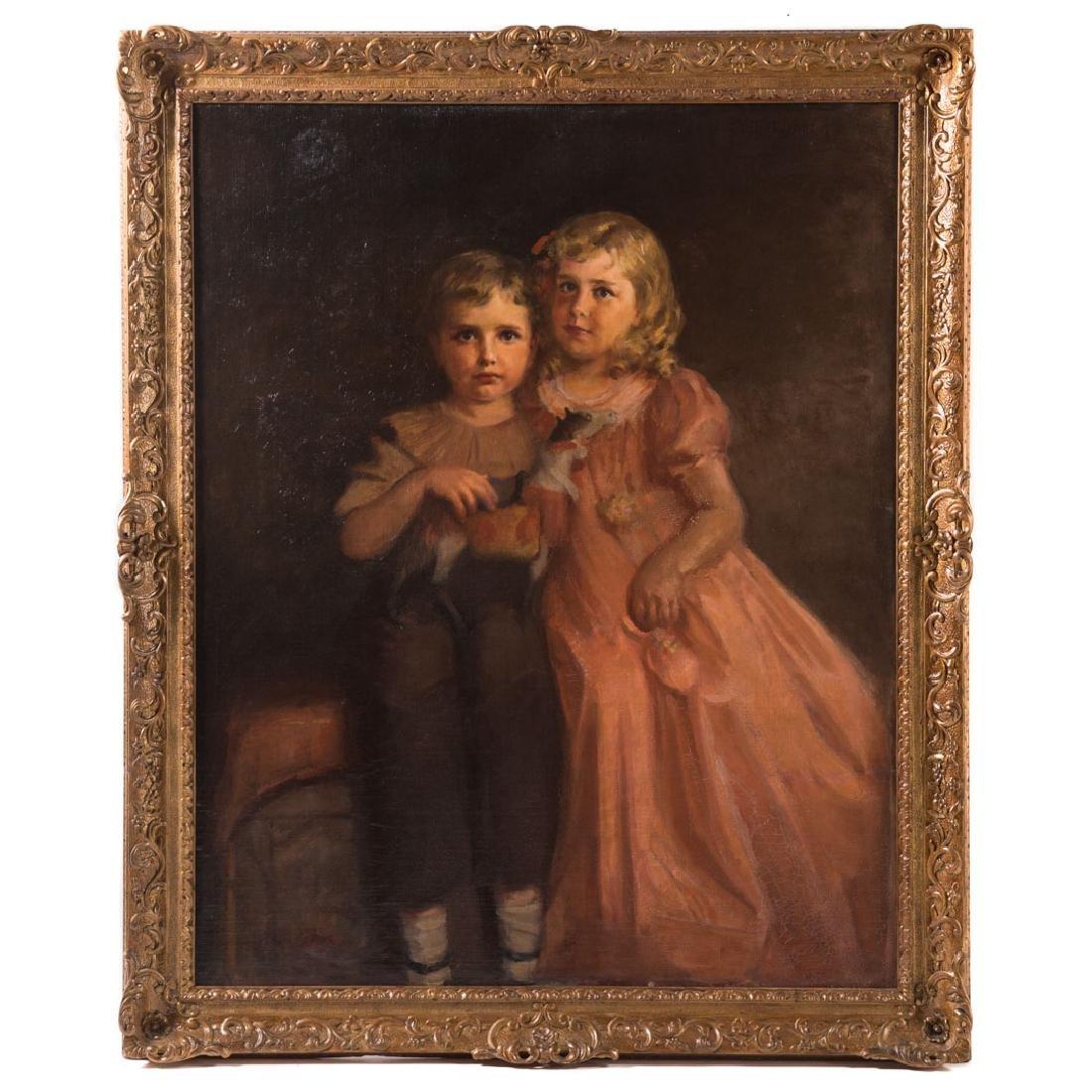 Content Johnson. Portrait of the Wholey Children