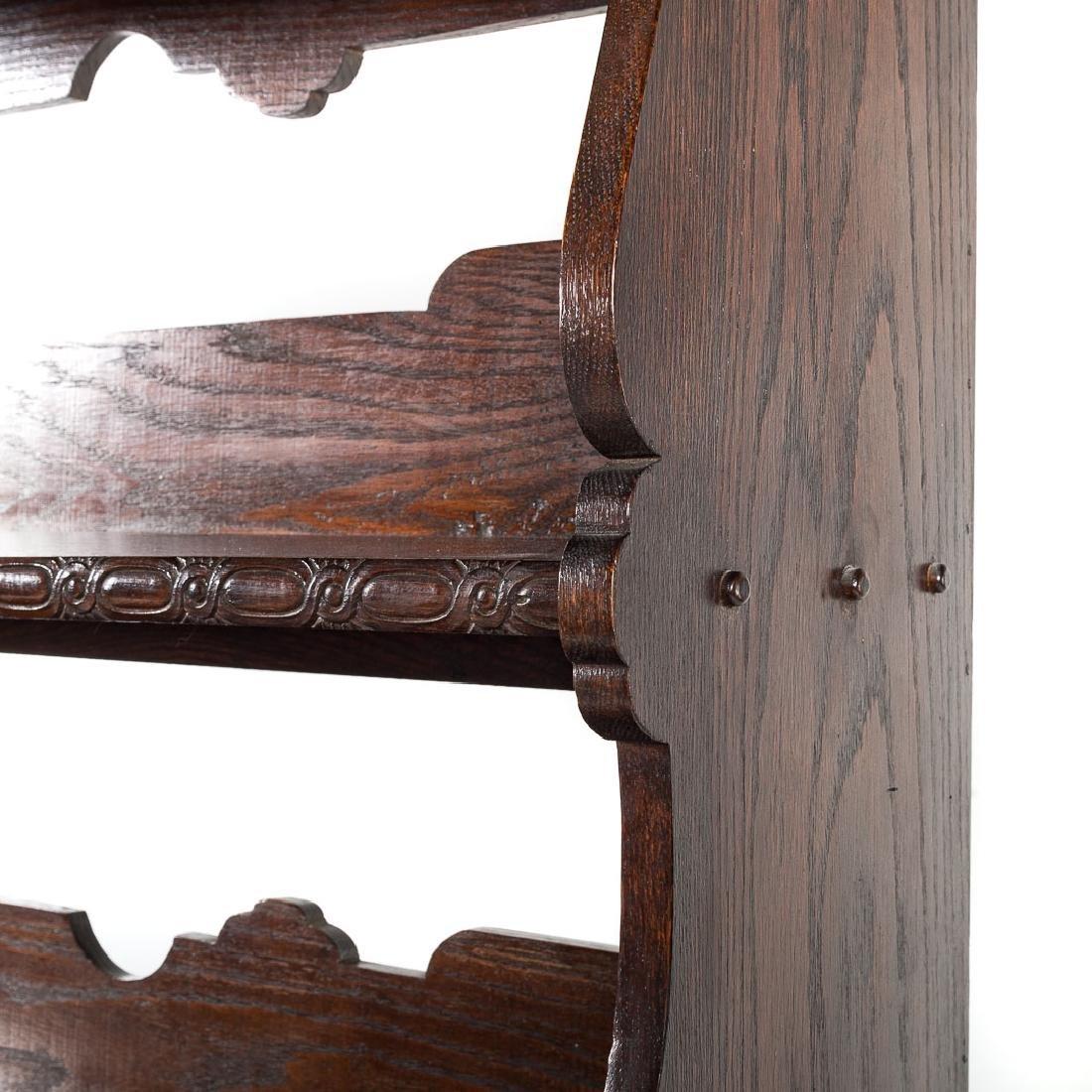 Jacobean Revival style carved oak dresser, - 5