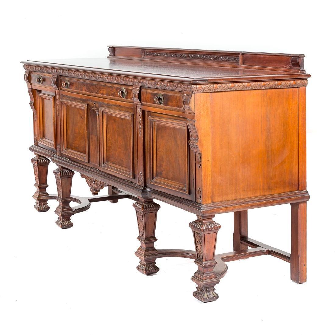 Louis XIV style walnut sideboard, - 3