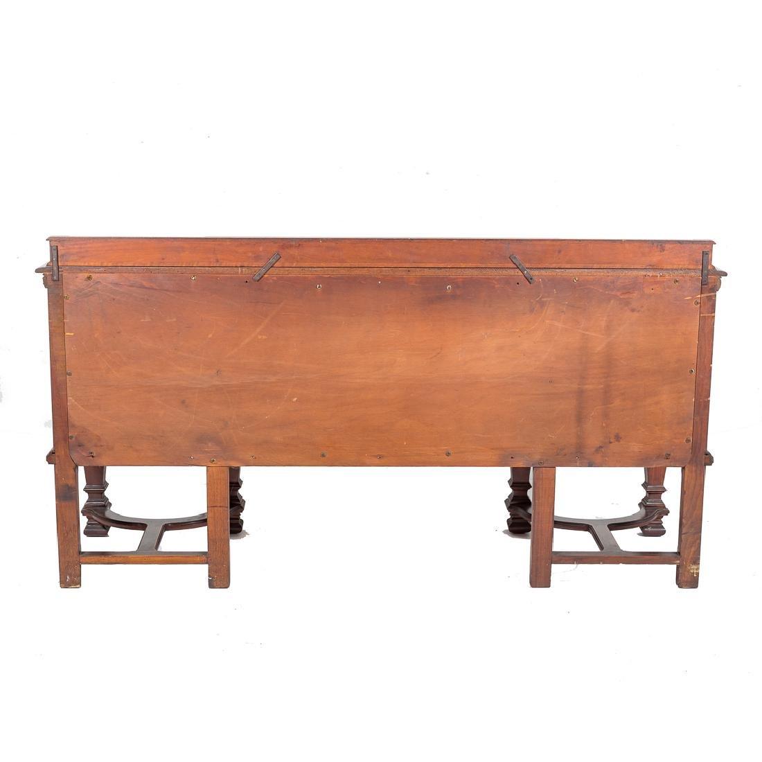 Louis XIV style walnut sideboard, - 4