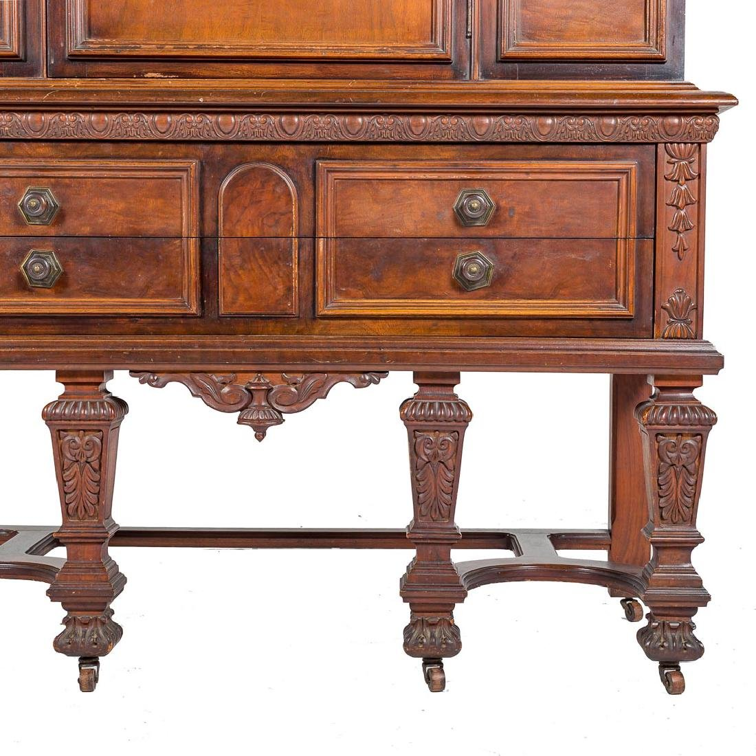 Louis XIV style walnut cabinet - 4