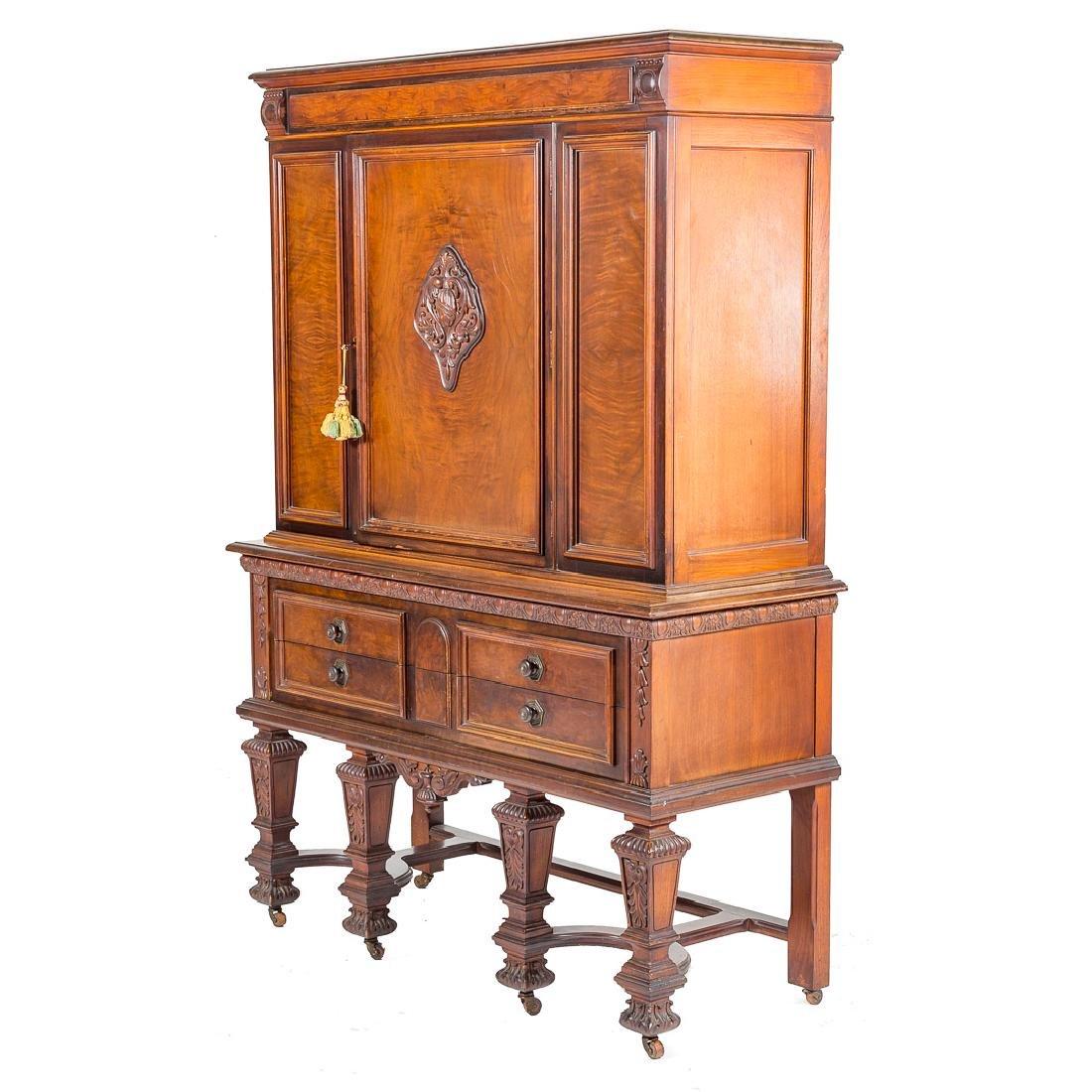 Louis XIV style walnut cabinet - 6