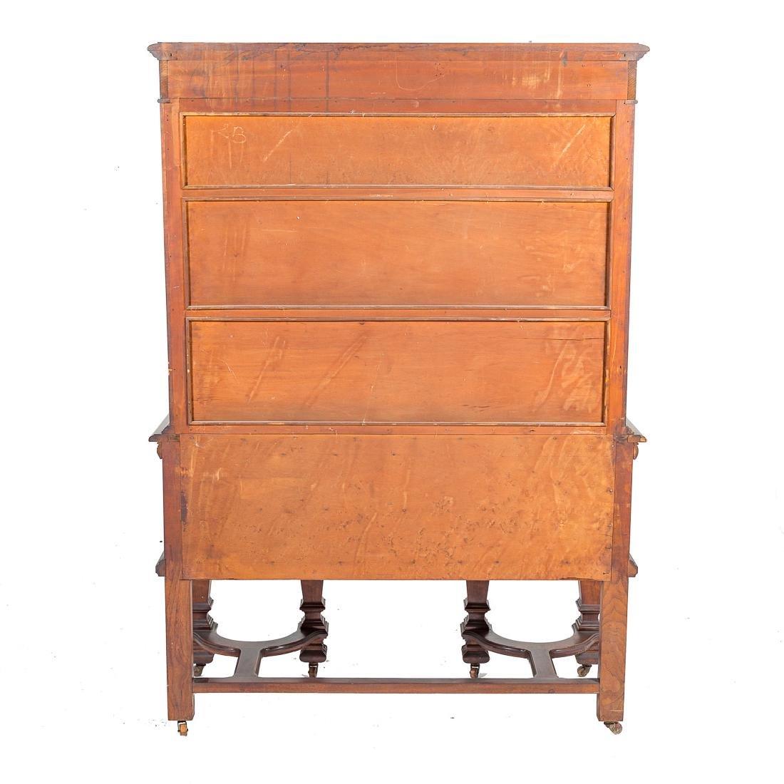 Louis XIV style walnut cabinet - 7