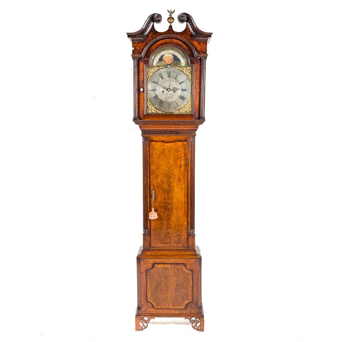 George III mahogany tall case clock,