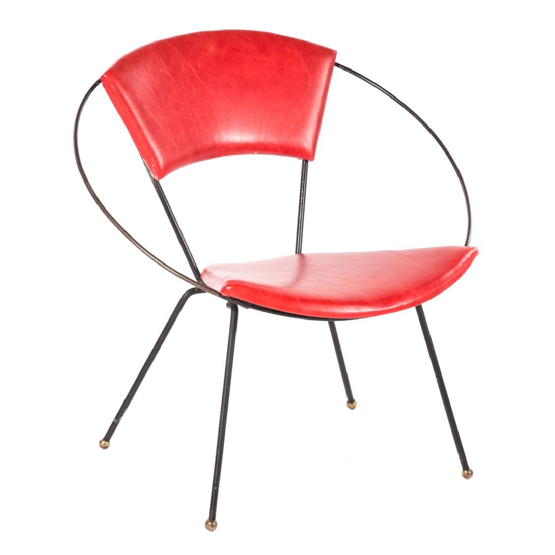 Tony Paul Mid-Century Modern steel Hoop chair,