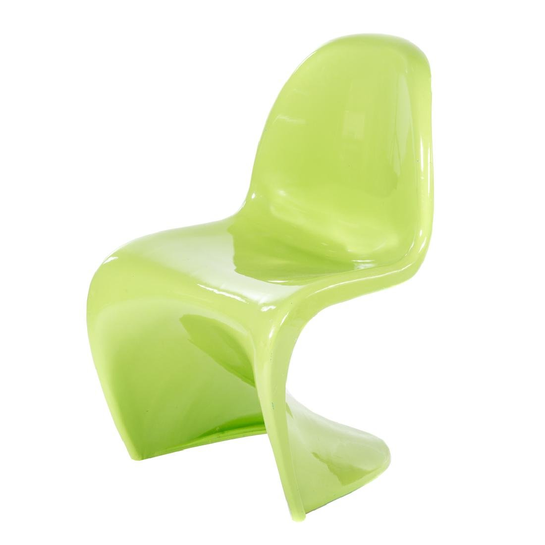 "Verner Panton Mid-Century Modern moulded ""S"" chair"