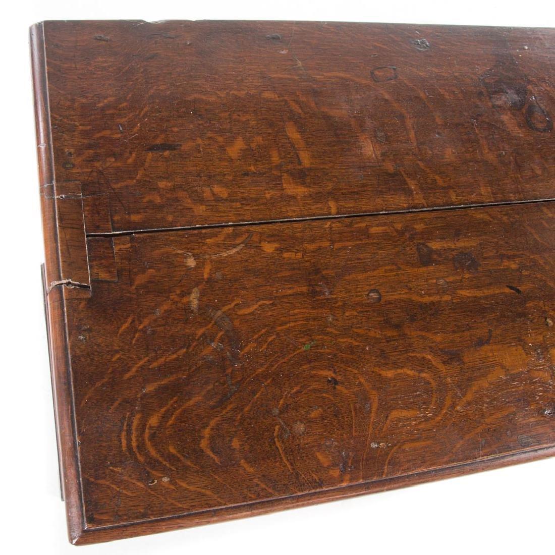 George III oak chest of drawers - 2