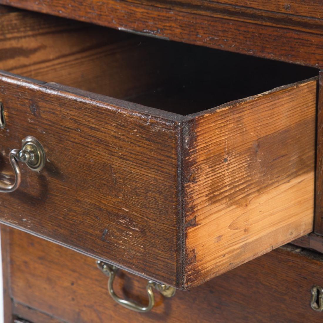 George III oak chest of drawers - 3