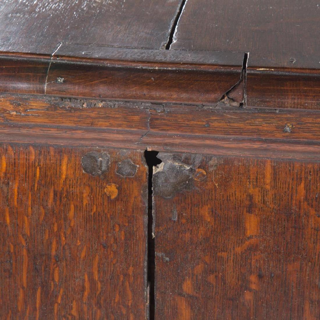 George III oak chest of drawers - 4