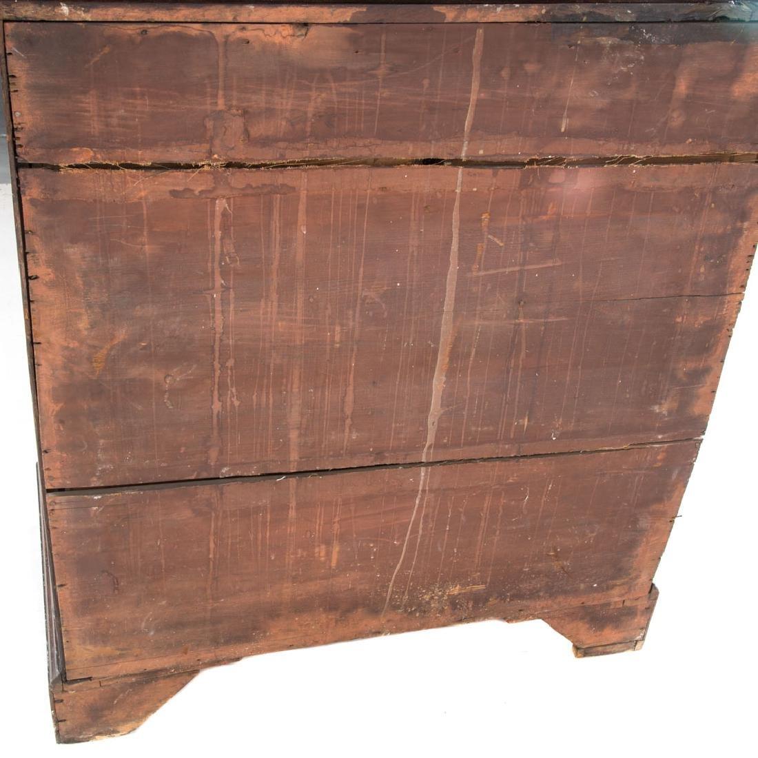 George III oak chest of drawers - 5