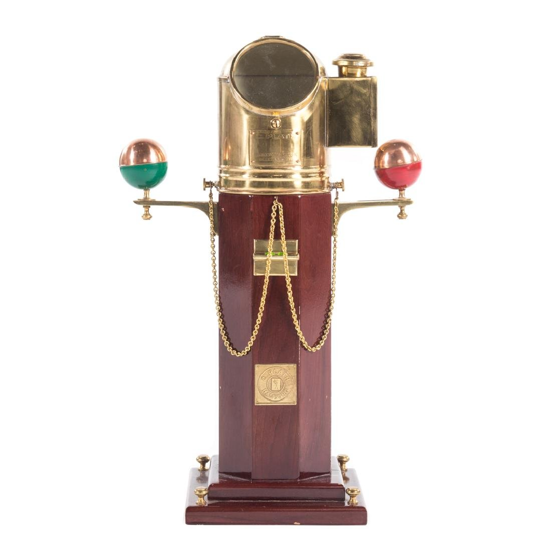 C. Plath miniature brass binnacle on stand