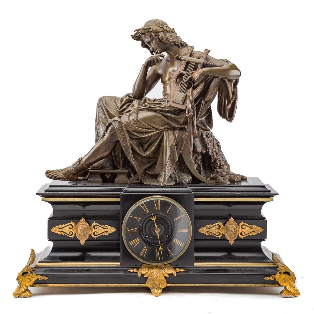 Alfred Carrier-Belleuse. Apollo figural clock