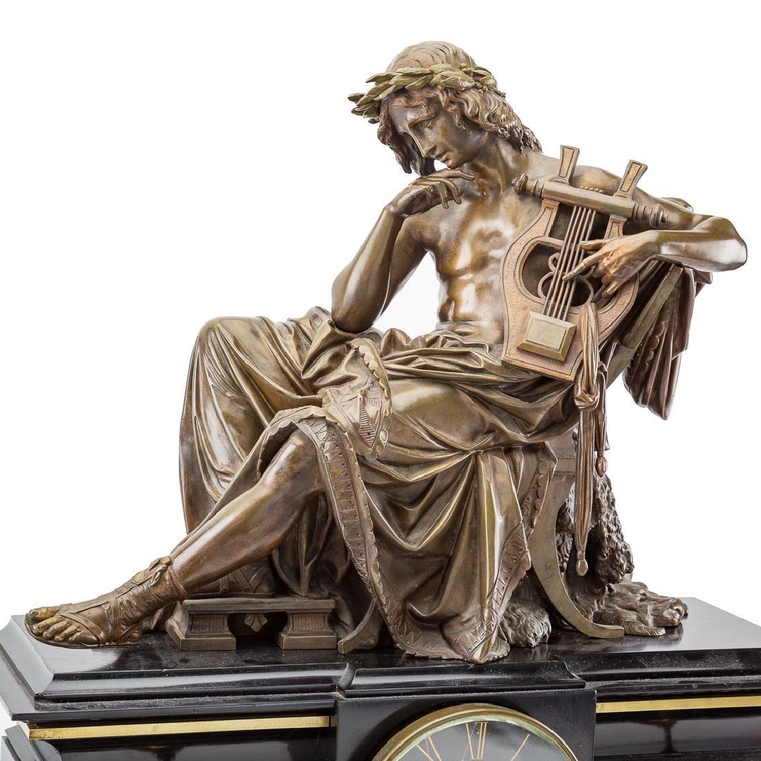 Alfred Carrier-Belleuse. Apollo figural clock - 2