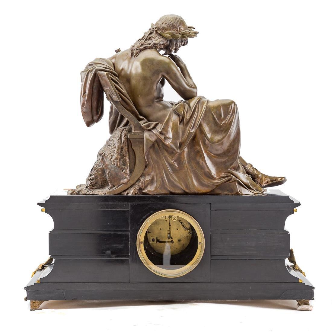 Alfred Carrier-Belleuse. Apollo figural clock - 4