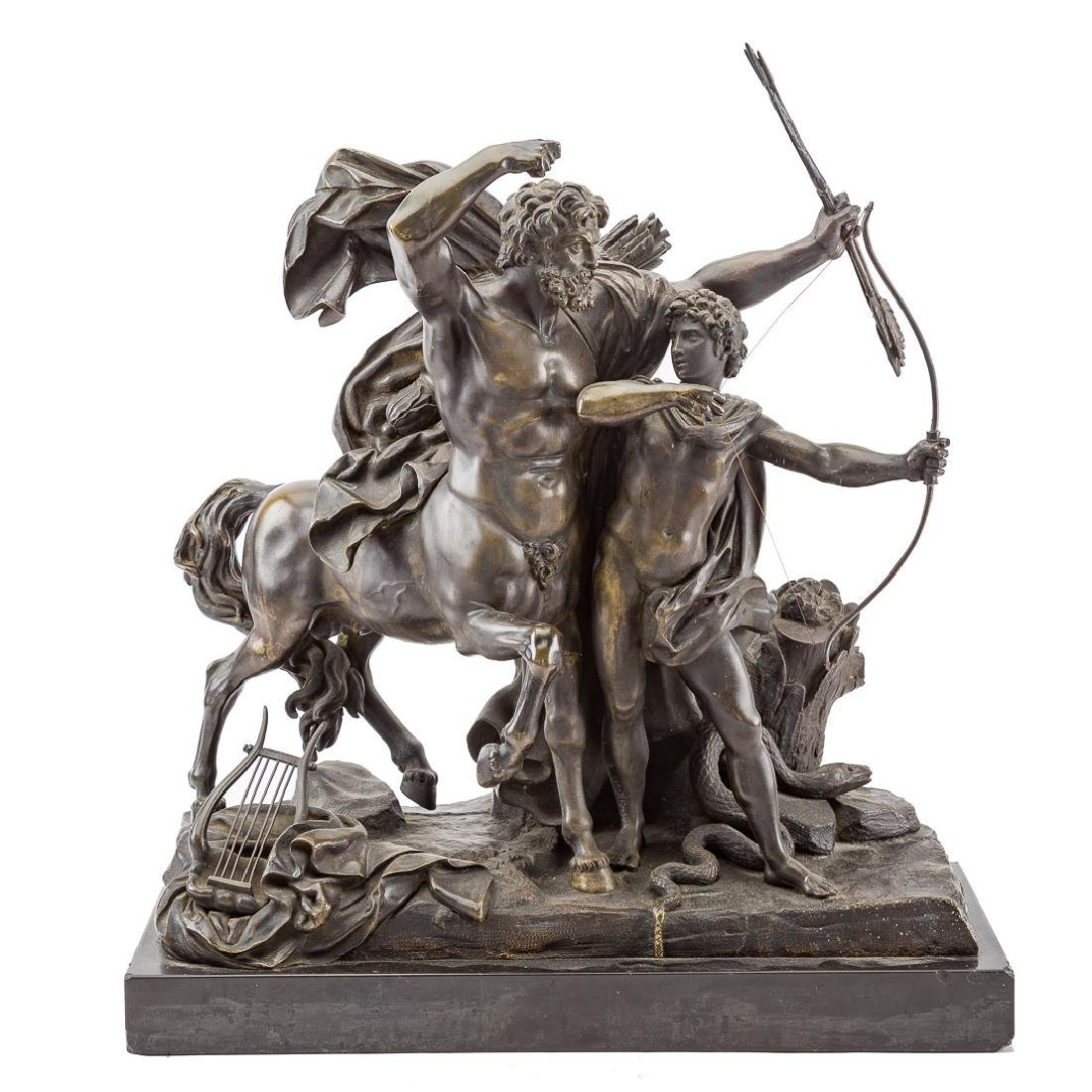 Francois Rude, Education of Achilles, bronze